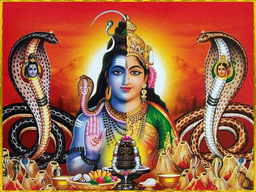Ardhanarishvara (al treilea ochi - ajna chakra)