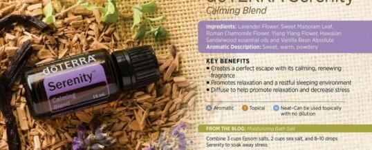 Blend-ul SERENITY de la doTERRA – amestec de uleiuri esentiale pentru somn odihnitor