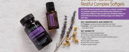 doTERRA SERENITY SOFTGELS RESTFUL COMPLEX – amestec de uleiuri esentiale pentru un somn odihnitor