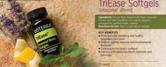 doTERRA TriEase Softgels Seasonal Blend – Amestec de uleiuri esentiale pentru alergie