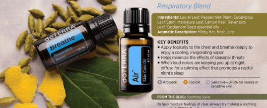 Blend-ul AIR (Breathe) de la doTERRA – amestec de uleiuri esentiale pentru respiratie